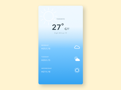 Weather App weather app ui mobile