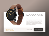 Daily UI Challenge #010 — Movado Product Card