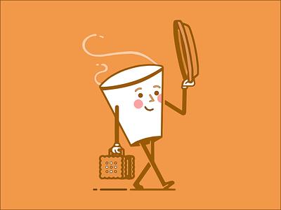 "Illustration ""Cup of coffee"" ui vector web design illustration"