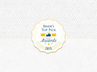 Wedding Award Badge wedding bride badge top awards round circle
