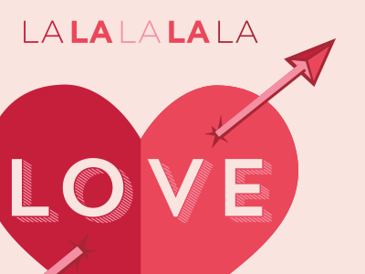 Lalala LOVE heart valentine arrow pink red love