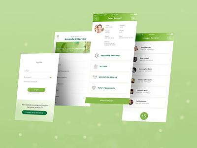 EazyScripts Mobile App Screens ios rx health tech health app medical app design app ui