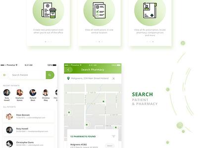 EazyScripts Mobile App ios ux design health app rx medical app health tech app design ui