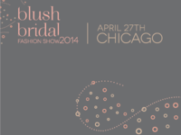 Blush Bridal Fashion Show 2014 logo & branding