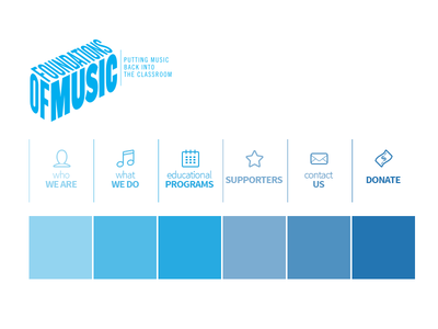 Foundations Of Music Web Color Harmony gradients color block icons