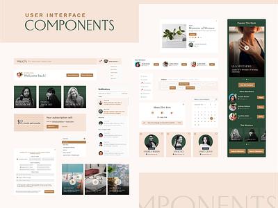 theJuggl Website & Web App UI Components women community website women mentor website marketplace website community website website web app app design components ui