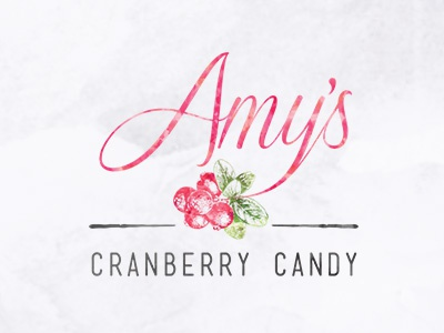 Amy's Cranberry Candy Logo cranberry logo candy organic