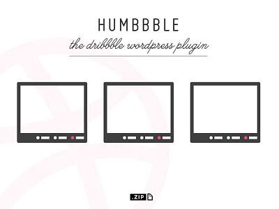 Humbbble -  the dribbble wp plugin dribbble plugin wordpress wp plugin portfolio