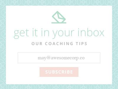 Pastel Newsletter Signup Form UI mailing list newsletter form sign up pastel