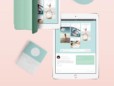 Pastel Chic Homepage Design ui design blog posts design bio blurb signup form newsletter homepage