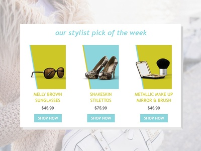 Featured Item Email Slice featured style promo colorful template email ecommerce item fashion price