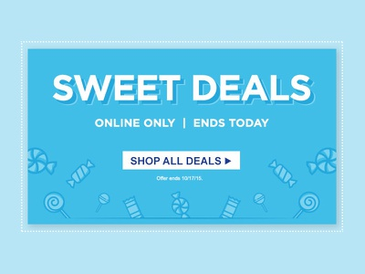 Sweet Deals Graphic Hero offer blue graphic icons sweet