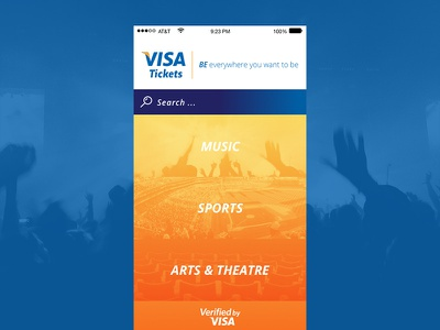 Visa Ticket App app design ios visa ticket