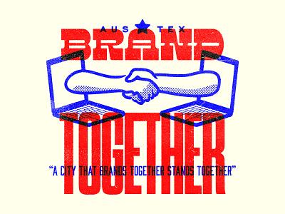 Brand Together vector austin illustration type arms hands austin branding agency austin texas