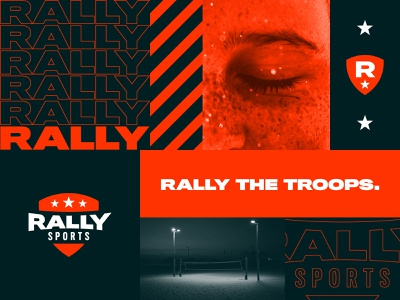 Rally Sports brand design logo