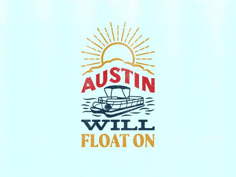 Float On boat type pontoon austin shirt design