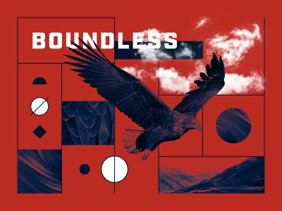 Boundless soar fly mountains sky clouds hawk eagle