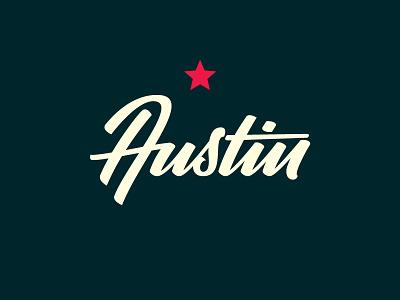 Austin lettering type logo script austin