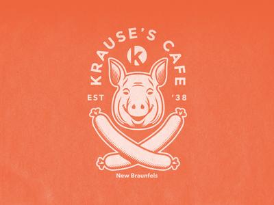 Jolly Porker illustration beer biergarten sausage pig head