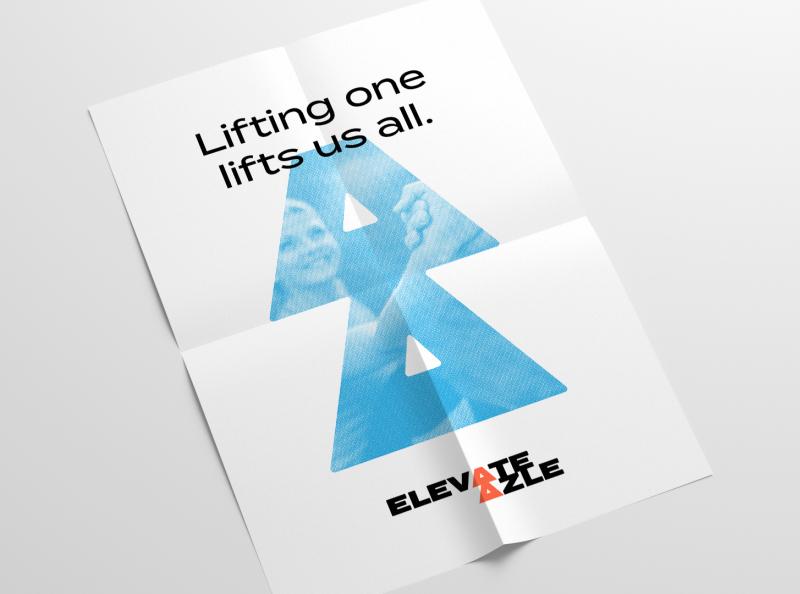 Elevate Azle poster shirt identity branding azle texas azle texas logo identity design non-profit