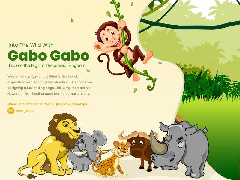 Fun Landing Page parallax landing page visual design interactive design adobe xd