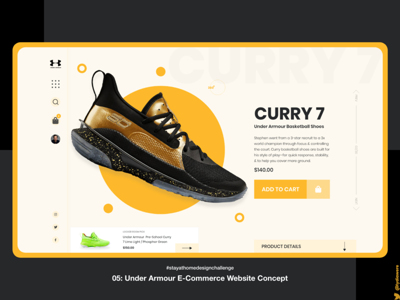 Under Armour e-commerce website concept sports ecommerce adobe xd ui design