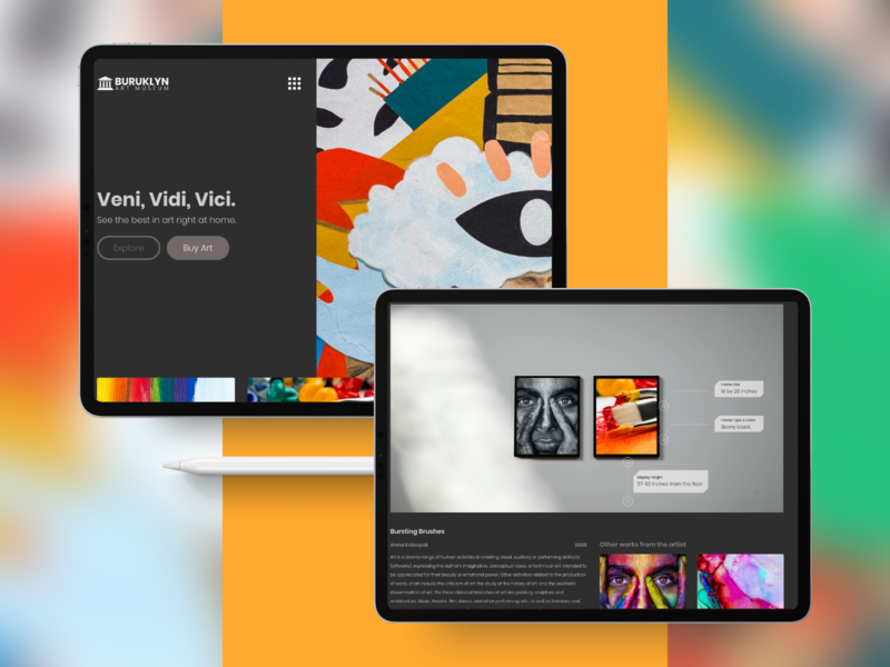 Virtual Museum virtual museum web design landing page visual design adobe xd