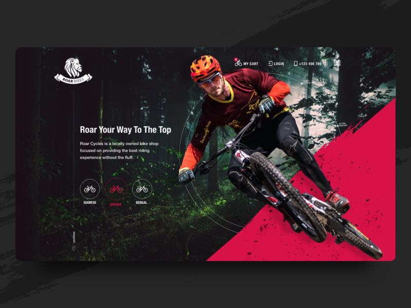 Bikes Website Landing Page fitness sports ecommerce bicycle bike website e-commerce app adobe xd landing page web design