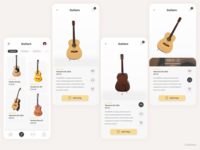 Music instrument store app mobile mobile app adobe xd guitar music app