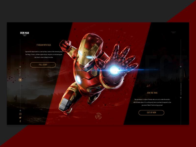 Iron Man Landing Page Concept landing page responsive website web design ux