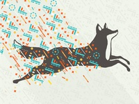 80s Leaping Fox