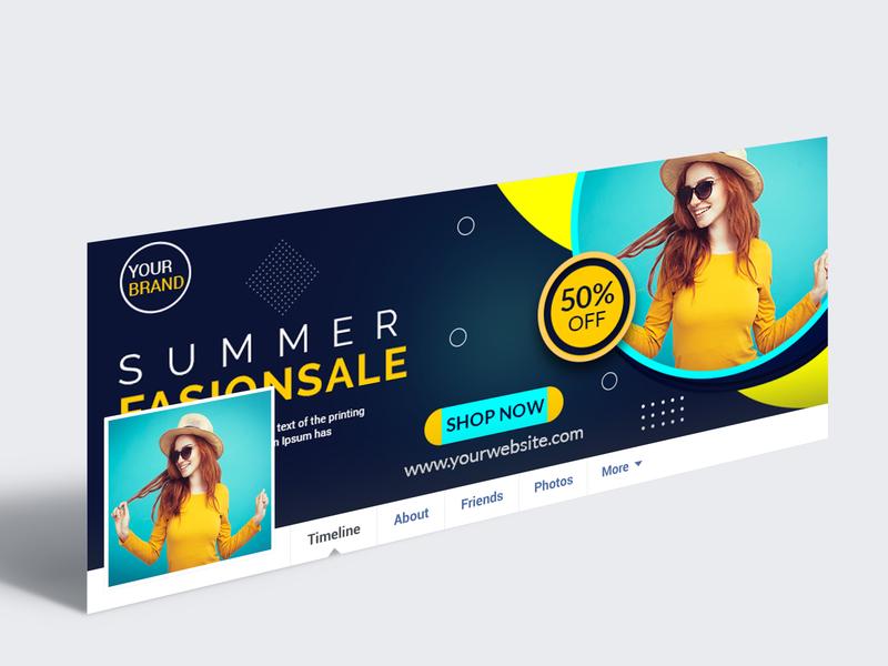 Facebook cover facebook ads facebook summer sale fasion social media design cover design facebook cover photo