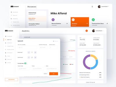 Kassero Dashboard managment gdedesign graph chart statistics dashboad logo money fintech account app analytics ui ux