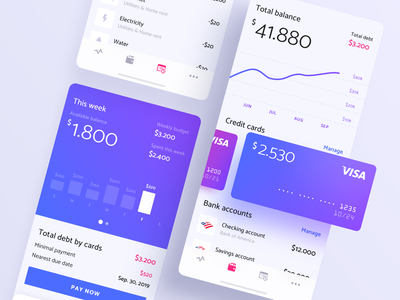 Financial App iOS startup business account analytics app ux mobile ui money wallet wealth management banking fintech