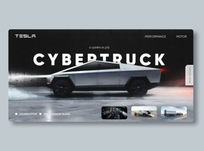 Tesla Cybertruck Landing Page | Daily UI #003