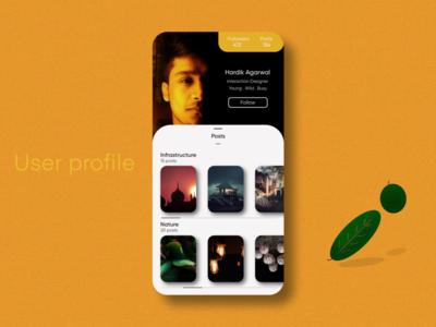 User Profile   Daily UI #006