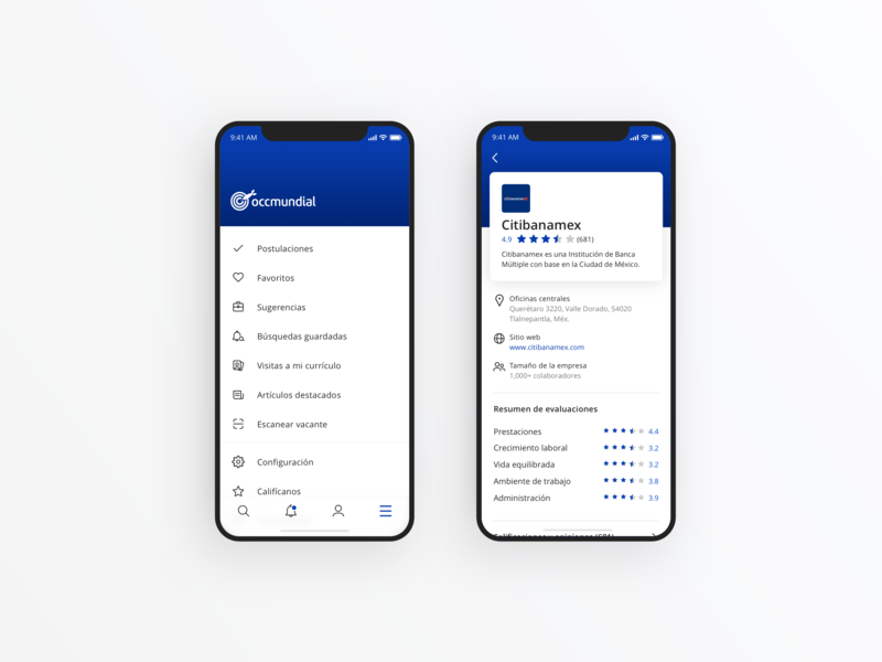 Companies and reviews by Hugo Garduno for OCCMundial Design on Dribbble
