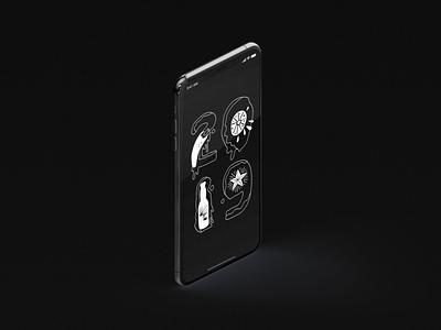 2019 branding design black  white dailyui ui illustration