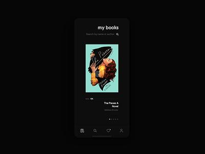 📖 books concept app ui design
