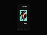 📖 books concept app ui design