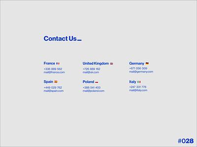 DailyUI #028 - Contact Us clean icon flat minimal web ux ui design app art