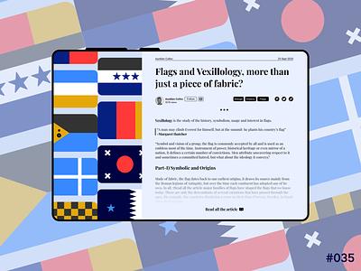 DailyUI #035 - Blog Post history vexilology flags illustration branding logo graphic design web ux app ui design art