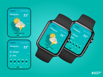 DailyUI #037 - Weather watch web ux app design art graphic design