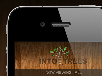Into the trees ui interface iphone iphone app logo