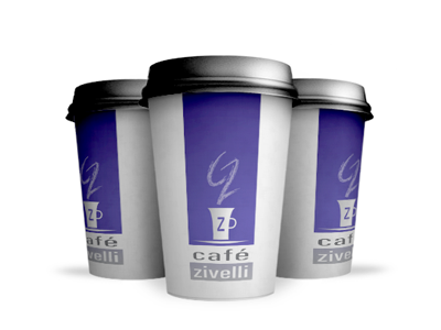 Branded Cafe Cup Mockup cafe logo coffee cup