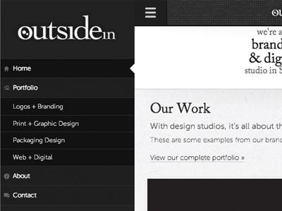 outside in responsive navigation responsive navigation website design