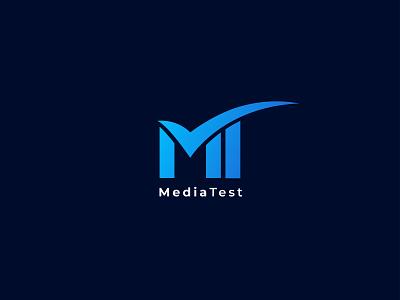 MediaTest Logo ui illustration design app icon typography minimalist logo app logo logo branding logo design