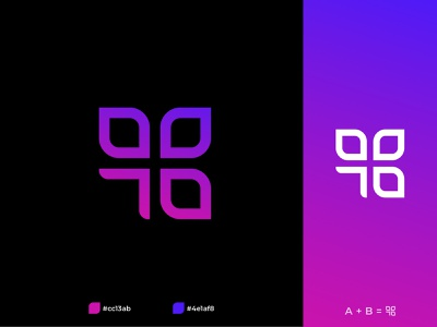 AB Logo Design ui illustration design app icon typography minimalist logo app logo logo branding logo design