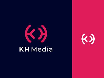 KH Media Logo Design illustration design app icon typography app logo logo branding minimalist logo icon ui logo design