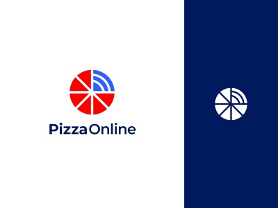 Pizza Online Logo Design pizza 2d creative typography app icon design ui illustration minimalist logo app logo logo branding logo design